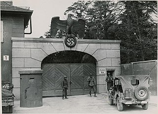 Nazi concentration camp in Germany before and during World War II