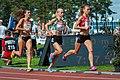 Kalevan Kisat 2018 - Women's 5000 m - Kristiina Mäki, Alisa Vainio, Janica Rauma.jpg
