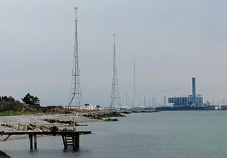 Kalundborg Transmitter - Image: Kalundborg renewed longwave towers