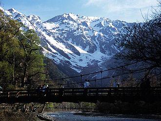 Kamikōchi - Mt. Hotaka and the Kappa-bashi.