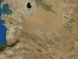 The Karakum Desert by NASA World Wind