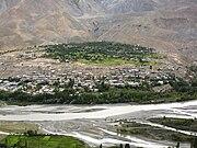 Kargil town, India panorama