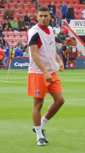 Karlan Ahearne-Grant - Ahearne-Grant warming-up for Charlton Athletic in 2014