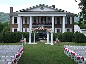 Wilderness Road State Park - Karlan Mansion, bedecked for a wedding
