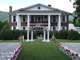 Wilderness Road State Park - Karlan Mansion, bedecked for a wedding