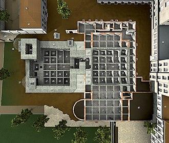 Führerbunker - 3D model of Führerbunker (left) and Vorbunker (right)