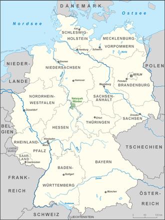 Münden Nature Park - Location of Münden Nature Park