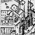 Katedralskolan in Uppsala, detail from Busser Uppsala map (bef 1702) 2.jpg