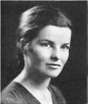 Katharine Hepburn - Hepburn's yearbook photo, 1928, Bryn Mawr College
