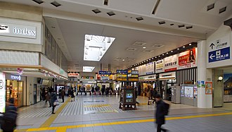 Kawagoe Station - The Tobu concourse in February 2016