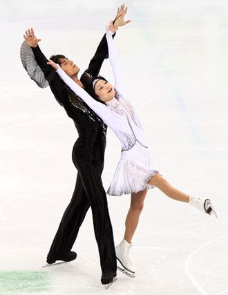 Yuko Kavaguti - Kawaguchi/Smirnov perform their short program at the 2010 Olympics