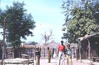 Kédougou Town in Senegal