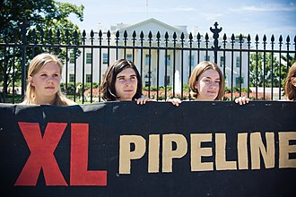 Keystone Pipeline - Demonstration against the Keystone XL extension at White House, August 2011