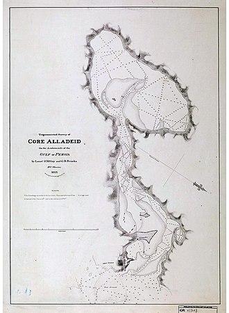 Khawr al Udayd - Trigonometrical survey of Khawr al Udayd in 1823.