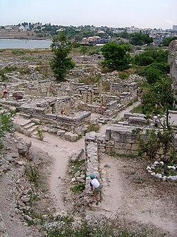 As ruínas da cidade de Quersoneso (Quérson)