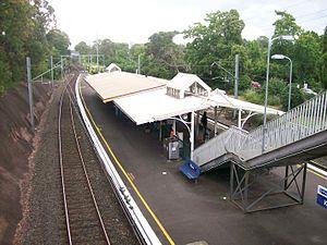 Killara railway station - Northbound view in December 2011