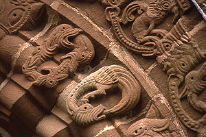 Church of St Mary and St David, Kilpeck - Image: Kilpeck Details of Door Arch