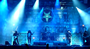 King Diamond (band) - King Diamond live at Hellfest 2012. From left to right: Mike Wead, Hal Patino, Matt Thompson, King Diamond and Andy LaRocque.