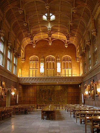 University of Cambridge - The dining hall at King's College
