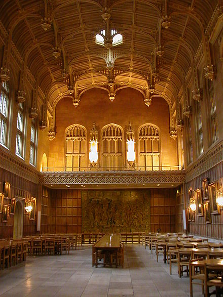The dining hall at King's College Kings dining hall.JPG