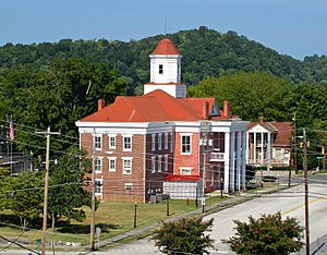 Kingston, Tennessee - The Old Courthouse in Kingston, built in the 1850s