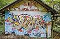 Klagenfurt Villacher Vorstadt Am Kreuzbergl 15 alte Schießstätte Graffiti 17102015 5211.jpg