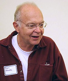 Donald Knuth at a reception for the Open Content Alliance, 25 October 2005
