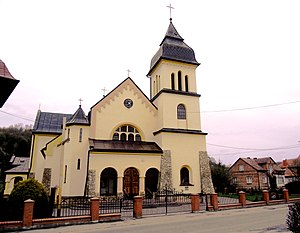 Tarnawa Górna, Podkarpackie Voivodeship - Image: Kościół parafialny św. Wojciecha w Tarnawie Górnej