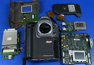 Kodak DCS 300 series - Image: Kodak DCS315 DSLR Camera Teardown
