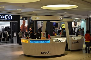 Koodo Mobile - A Koodo Mobile booth in Fairview Mall.