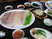 Korean style raw fish