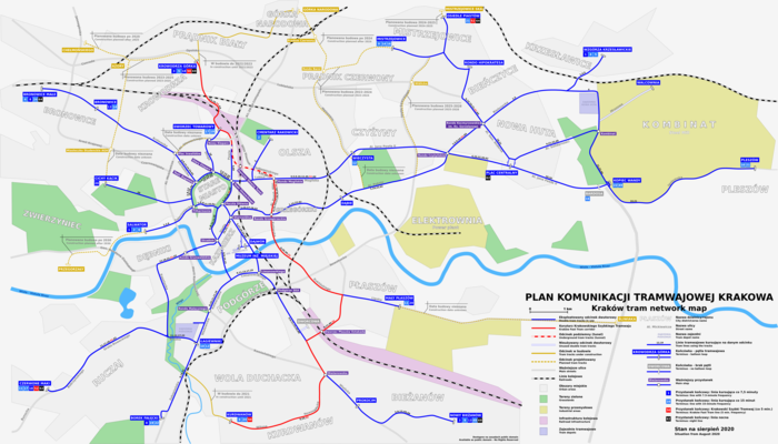 Современная схема трамвайной