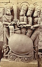 Photograph of temple sculpture in India