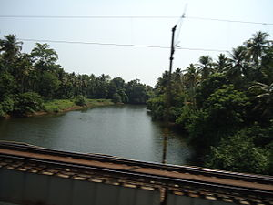 Kurumali River - Kurumali River. View from Railway bridge near Pudukkad