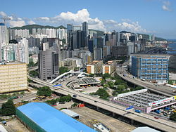 The industrial area of Kwun Tong