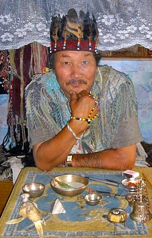 Shaman of Kyzyl, 2005. Tuvan shamanhood is bei...