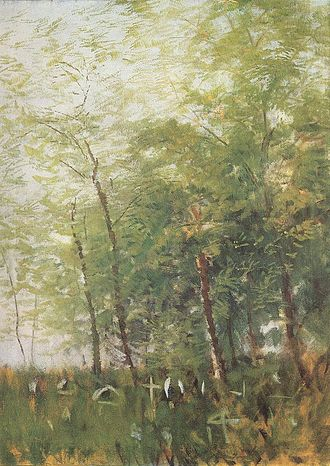 László Mednyánszky - László Mednyánszky: Edge of a Forest with Crosses