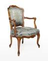 Länstol, 1700-talets mitt - Hallwylska museet - 110058.tif