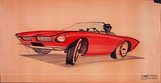Raymond Loewy - A concept sketch of the 1963 Avanti by Loewy