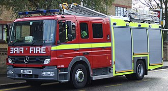 Fire services in the United Kingdom - A fire engine of the London Fire Brigade, the second-largest service in the country after the Scottish Fire and Rescue Service