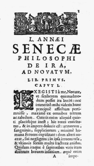 De Ira - From the 1643 edition, published by Francesco Baba