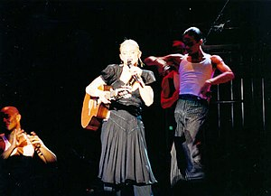 "Drowned World Tour - Madonna performing ""La Isla Bonita"" during the show."
