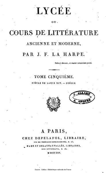 File:La Harpe - Lycée ou cours de littérature ancienne et moderne, tome 5.djvu