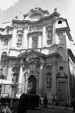 Church of the Maddalena, Rome. Facade by Giuse...