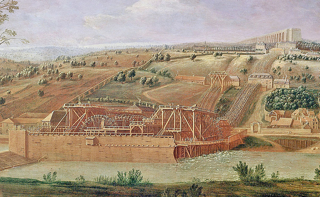 Fichier La Machine Hydraulique De Marly En 1715 Peinture D Epoque Jpg Wikipedia