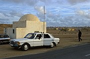 Police checkpoint at suburbs of Laayoune