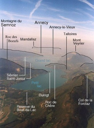 Annecy-le-Vieux - Geographical features around Lake Annecy.
