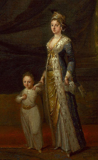 Lady Mary Wortley Montagu - Mary Wortley Montagu with her son Edward, by Jean-Baptiste van Mour