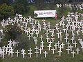 Lafayette hillside memorial.JPG