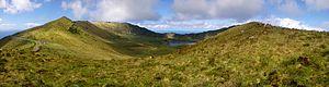 Azores Geopark - Image: Lagoa do Caldeirão, ilha do Corvo, Açores, Arquivo de Villa Maria, ilha Terceira, Açores